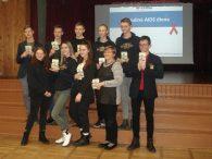 Pasaulinės AIDS dienos protmūšis Plungės Senamiesčio mokykloje