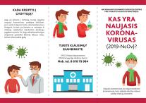 Dažniausiai užduodami klausimai dėl naujojo koronaviruso ir rekomendacijų gyventojams