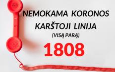LR Sveikatos apsaugos ministerija primena, kada gyventojai turėtų skambinti 1808