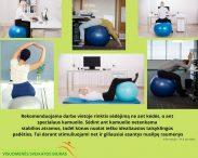 Rekomenduojama darbo vietoje rinktis sėdėjimą ne ant kėdės, o ant specialaus kamuolio