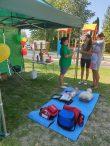 Plungės rajono savivaldybės visuomenės sveikatos biuro palapinė Žlibinų Žolinės šventėje
