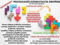 Nemokamos psichologo konsultacijos grupėms (iki 10 asmenų) nuotoliniu būdu