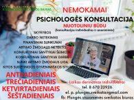 Nemokama psichologo konsultacija nuotoliniu būdu