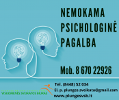Nemokama psichologinė pagalba