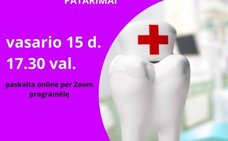 """Kviečiame į nemokamą paskaitą """"Suaugusiųjų burnos higiena. Pagrindinės dantų problemos. Patarimai"""""""