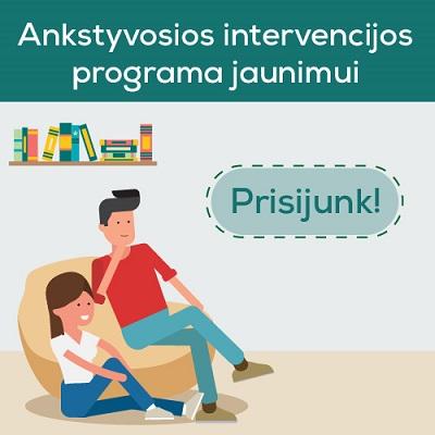 Ankstyvosios intervencijos programa – motyvuoti jaunimą keisti požiūrį į psichoaktyvias medžiagas