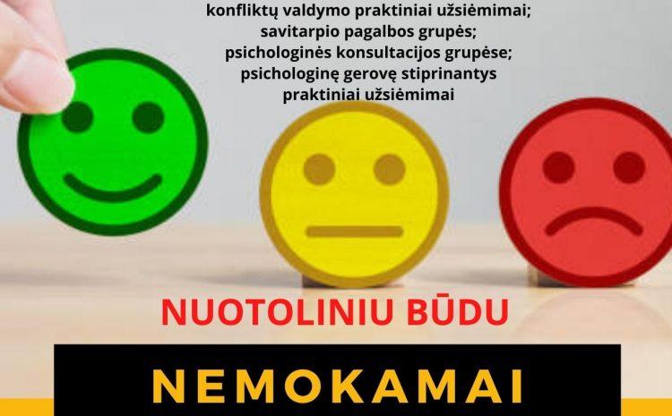 Nemokamos individualios ir grupinės psichologo konsultacijos visą sausio mėnesį