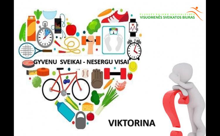 Viktorina ,, GYVENU  SVEIKAI – NESERGU VISAI '' su Plungės ,,Babrungo'' progimnazijos mokiniais
