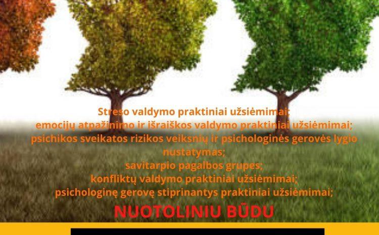 Nemokamos nuotolinės psichologo konsultacijos