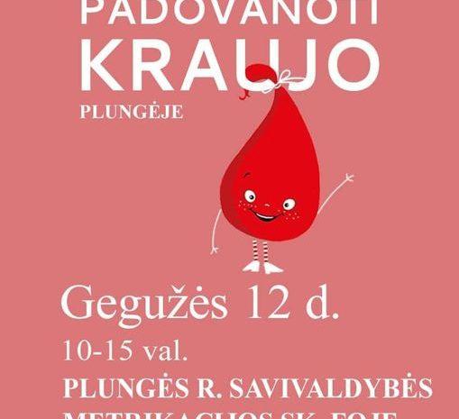 Kviečiame padovanoti kraujo Plungėje