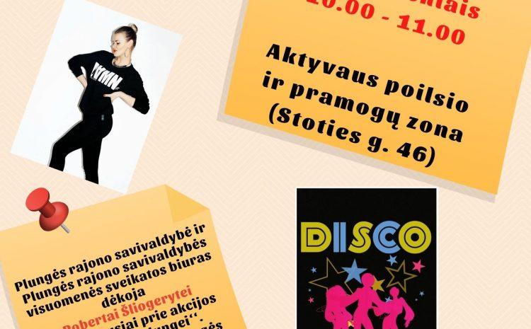 Nemokamos šokių pamokos disco ritmu 65+ amžiaus žmonėms